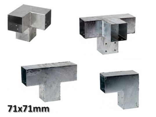 Pergola hoekverbinding 71x71mm