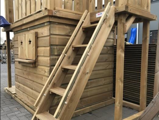 Dubbele handrails voor trap
